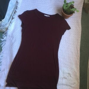 Dresses & Skirts - Short Tight Maroon T shirt dress